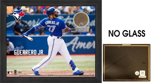 "Photo of Toronto Blue Jays 9"" by 11"" Vladimir Guerrero Jr Frame with Game Used Dirt by Highland Mint"