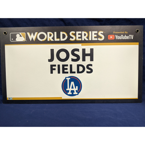 Photo of Team-Issued Josh Fields 2017 World Series Media Sign
