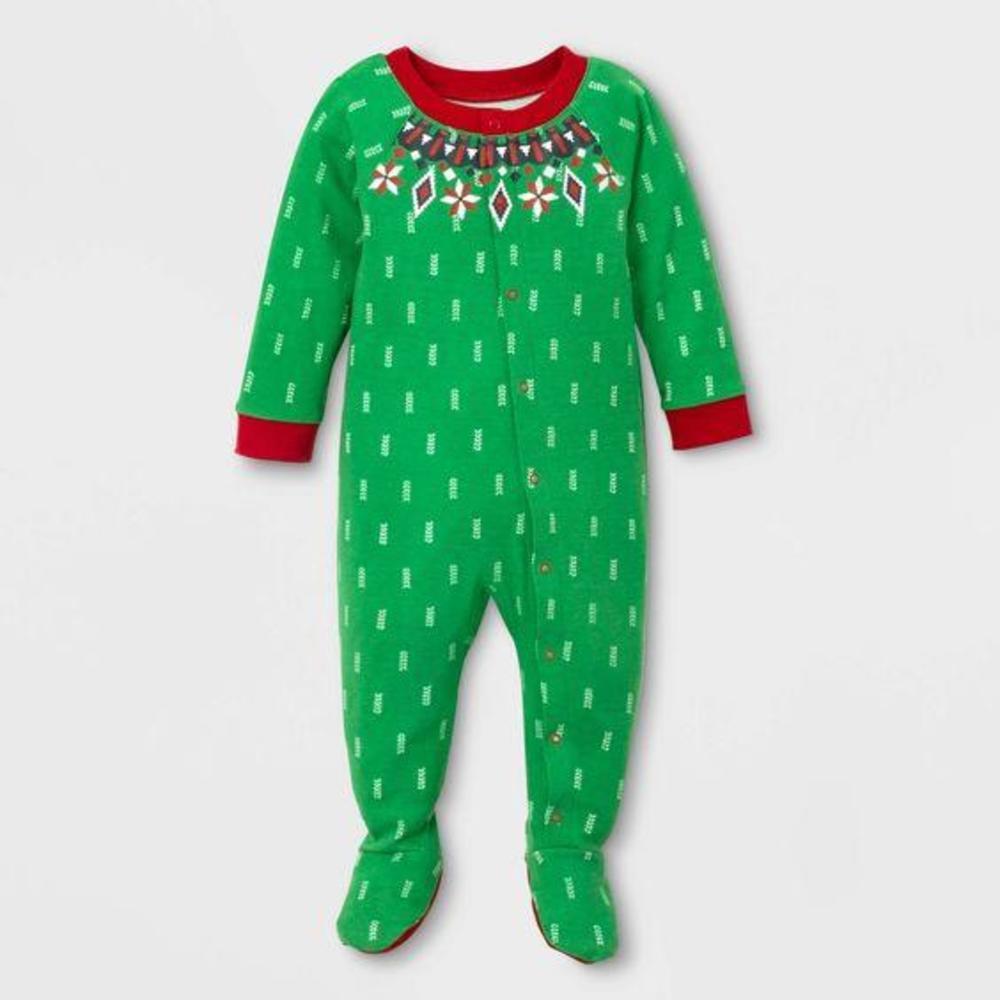 Photo of Baby Holiday Fairisle Footed Pajamas