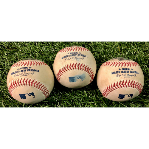 Photo of Game Used Baseball Package: Yoshitomo Tsutsugo, Joey Wendle and Austin Meadows - August 21, 2020 v TOR