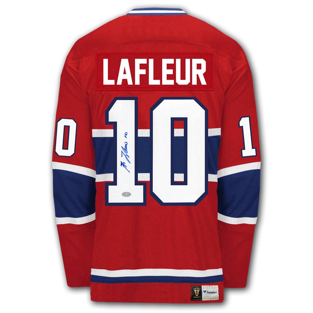 Guy Lafleur Montreal Canadiens Vintage Autographed Jersey