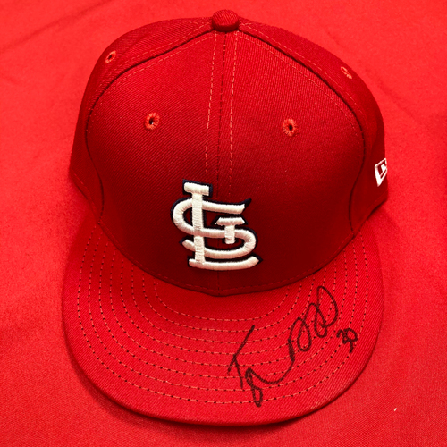 Photo of Tyler Webb Autographed Team Issued Home Cap (Size 7 1/2)