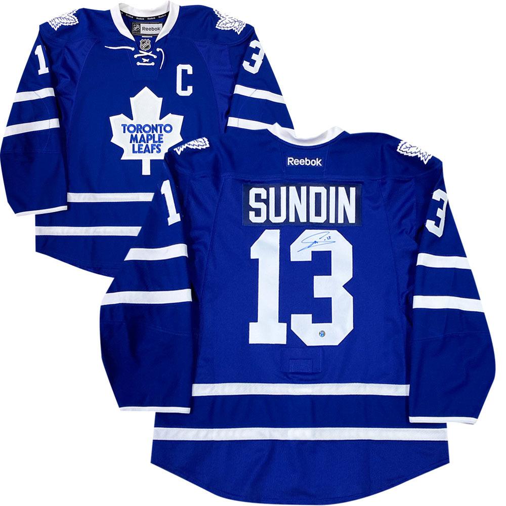 Mats Sundin Autographed Toronto Maple Leafs Reebok Pro Jersey