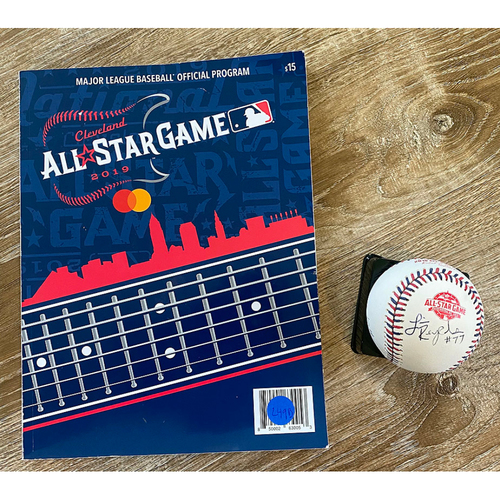 Photo of UMPS CARE AUCTION: 2019 All-Star Game Program and Crew Signed Baseball