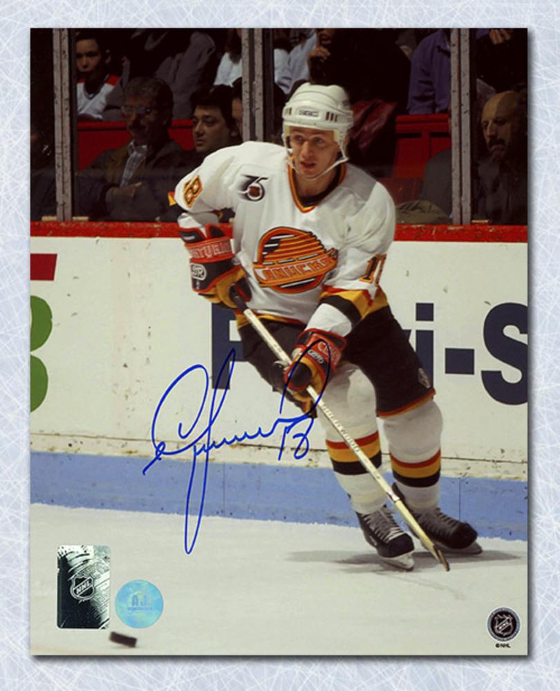 Igor Larionov Vancouver Canucks Autographed 8x10 Photo