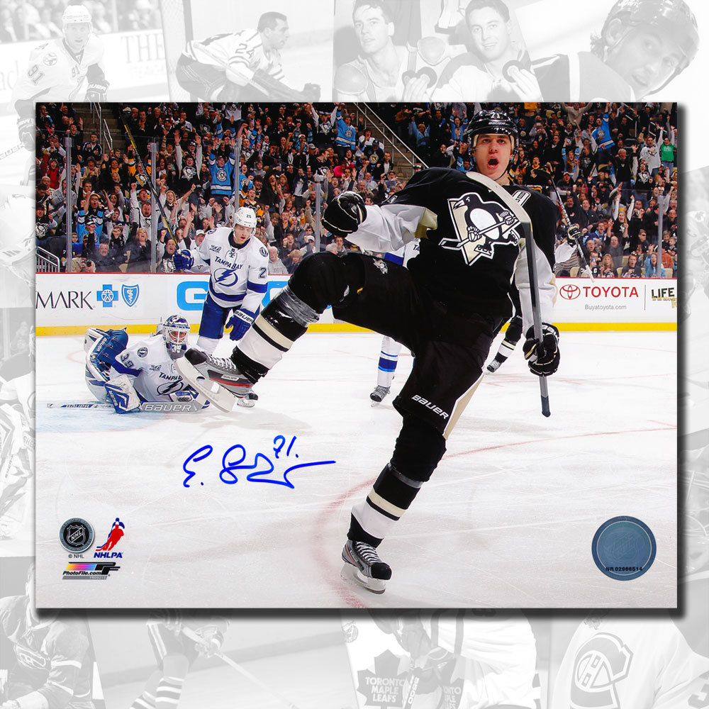 Evgeni Malkin Pittsburgh Penguins Celebration Autographed 8x10