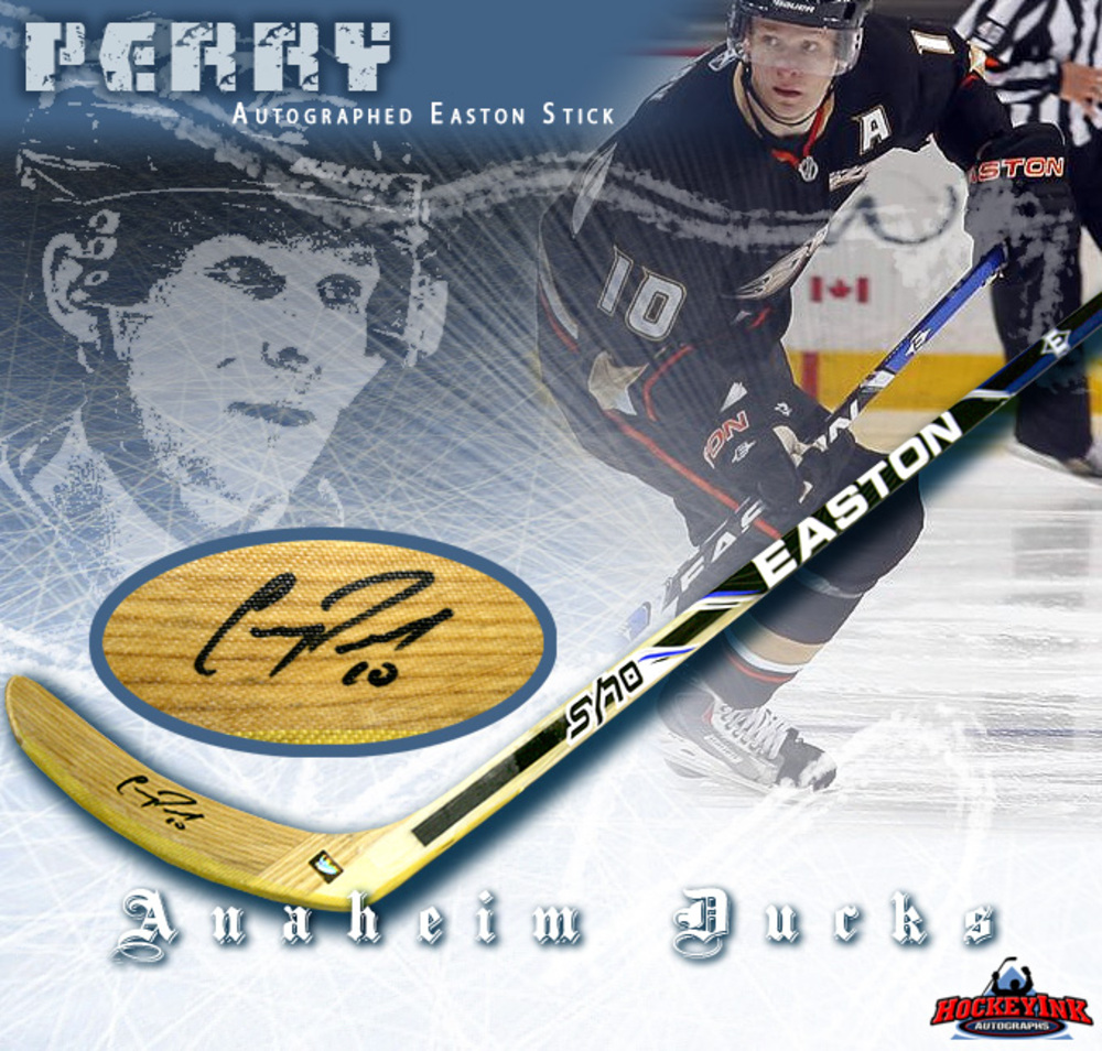 COREY PERRY of the Anaheim Ducks Signed Easton Model Stick