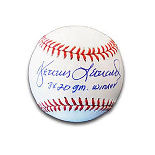 Dennis Leonard Autographed Baseball