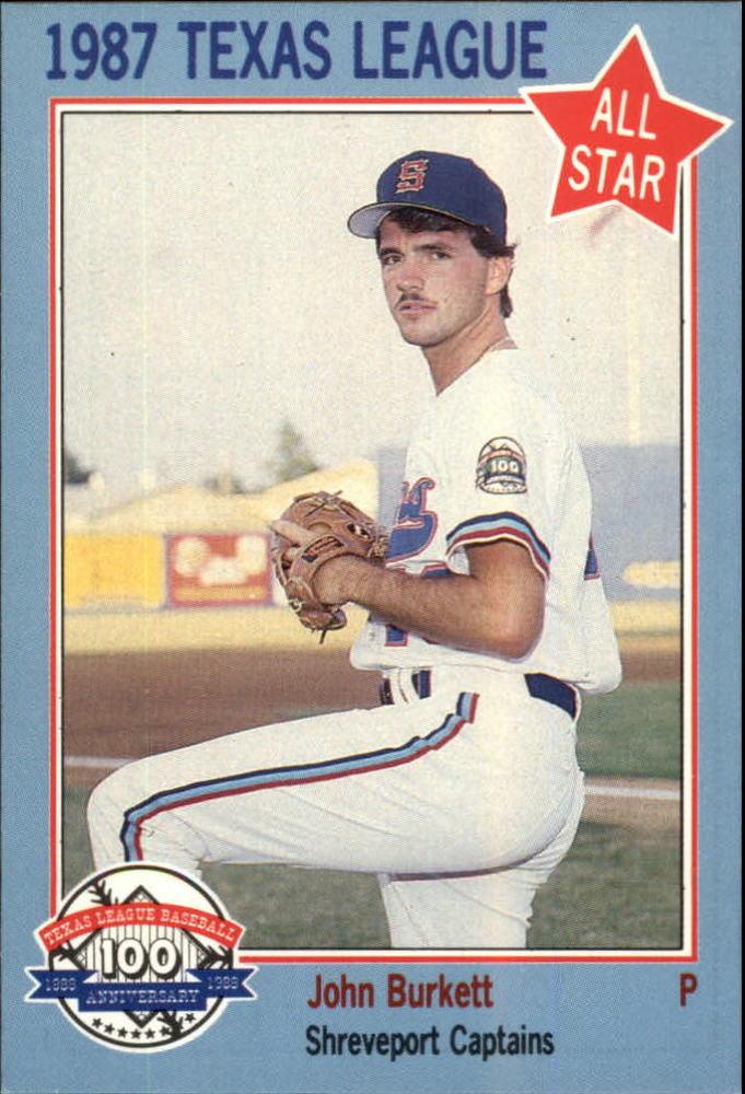 1987 Texas League All-Stars Feder #33 John Burkett