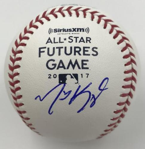 Photo of Michael Kopech Autographed 2017 Futures Game Logo Baseball
