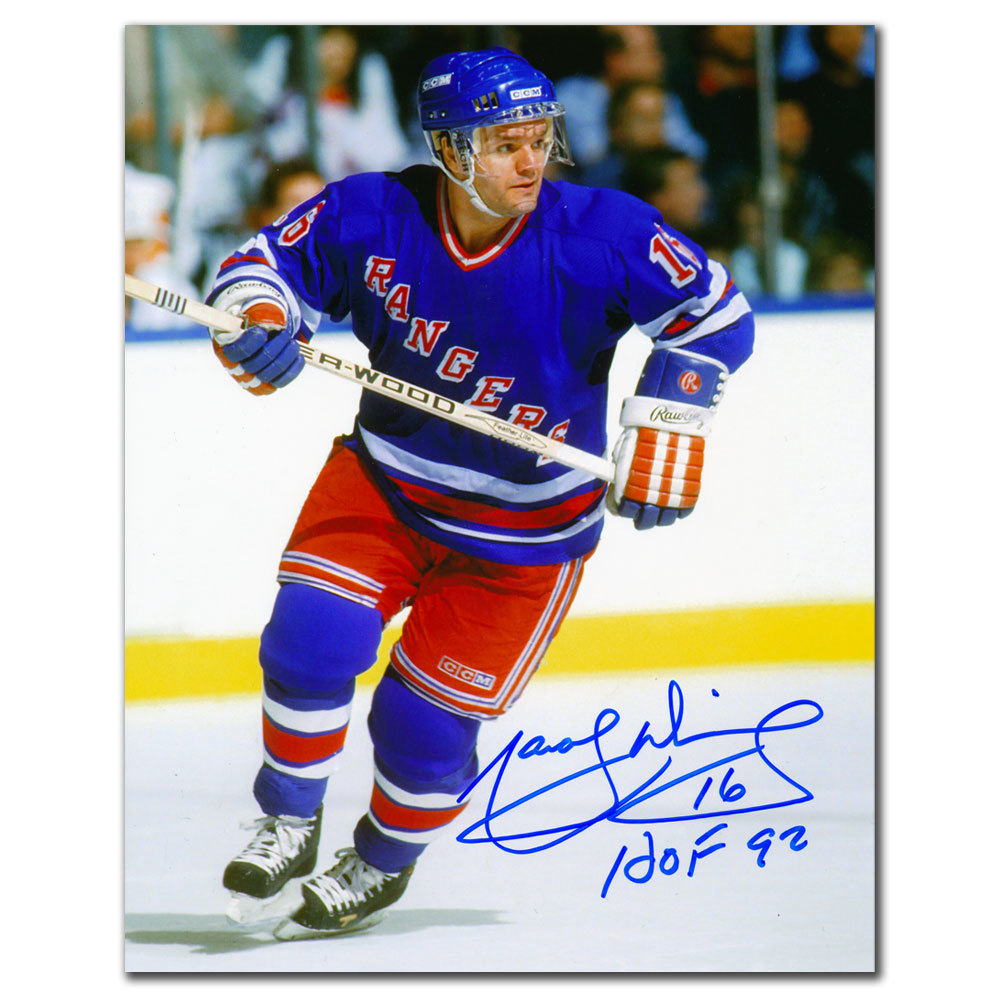 Marcel Dionne New York Rangers HOF Autographed 8x10