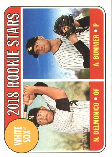 Photo of 2018 Topps Heritage #173 Nicky Delmonico RC/Aaron Bummer RC