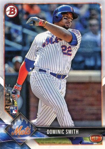 Photo of 2018 Bowman #55 Dominic Smith  -- Rookie Card