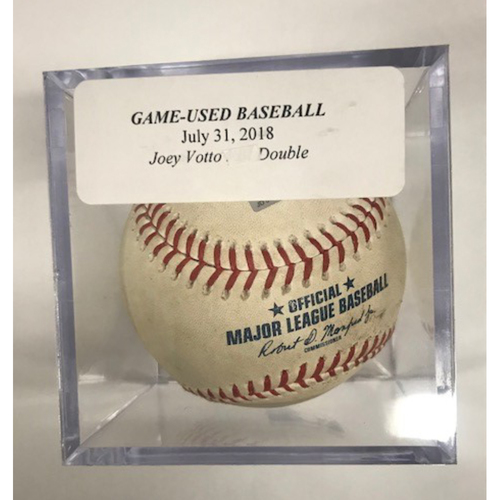 Photo of Game-Used Baseball: Joey Votto Double