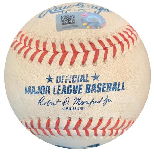 Photo of Game-Used Baseball from Pirates vs. Dodgers on 6/7/18 - Two Pitches to Max Muncy