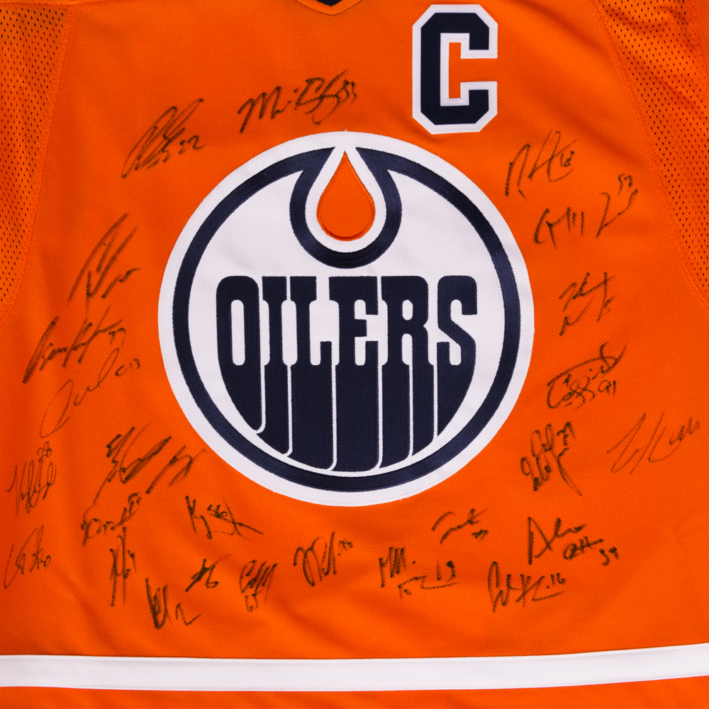 2018-19 Edmonton Oilers Team-Signed Orange Oilers Adidas Pro Authentic  Jersey Crested To  97 Connor McDavid bbdce1e3c