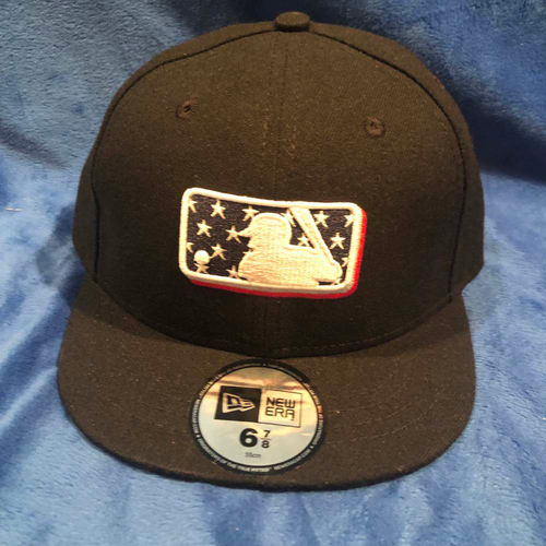 UMPS CARE AUCTION: MLB Specialty Stars Umpire Plate Cap, Size 6 7/8