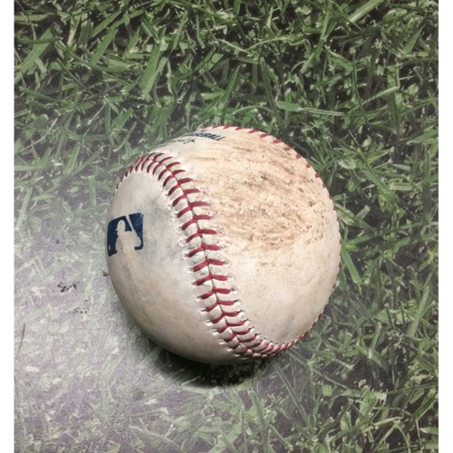 Photo of Game-Used Baseball LAD@MIL 04/19/19 - Jhoulys Chacin - Max Muncy: Foul
