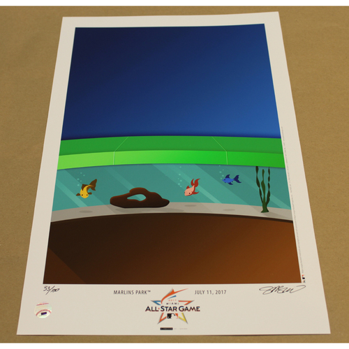 Photo of All Star Game 2017 Edition Minimalist Miami Marlins Park Art Poster 33/100 by S. Preston