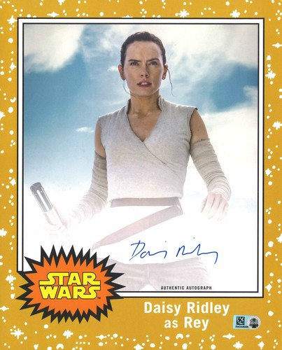 Daisy Ridley # to 5 Gold Autographed Oversized Trading Card