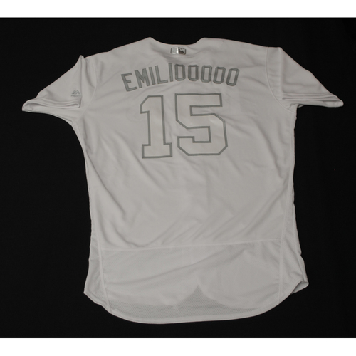 "Photo of Emilio ""EMILIOOOOO"" Pagan Tampa Bay Rays Game-Used 2019 Players' Weekend Jersey"