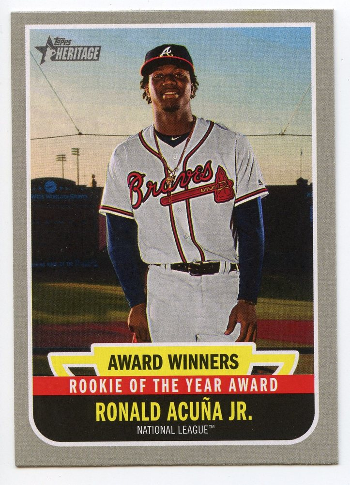 2019 Topps Heritage Award Winners #AW6 Ronald Acuna Jr.
