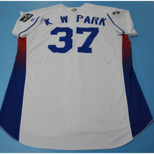 Photo of 2017 World Baseball Classic Game-Used Jersey - Kunwoo Park - Korea