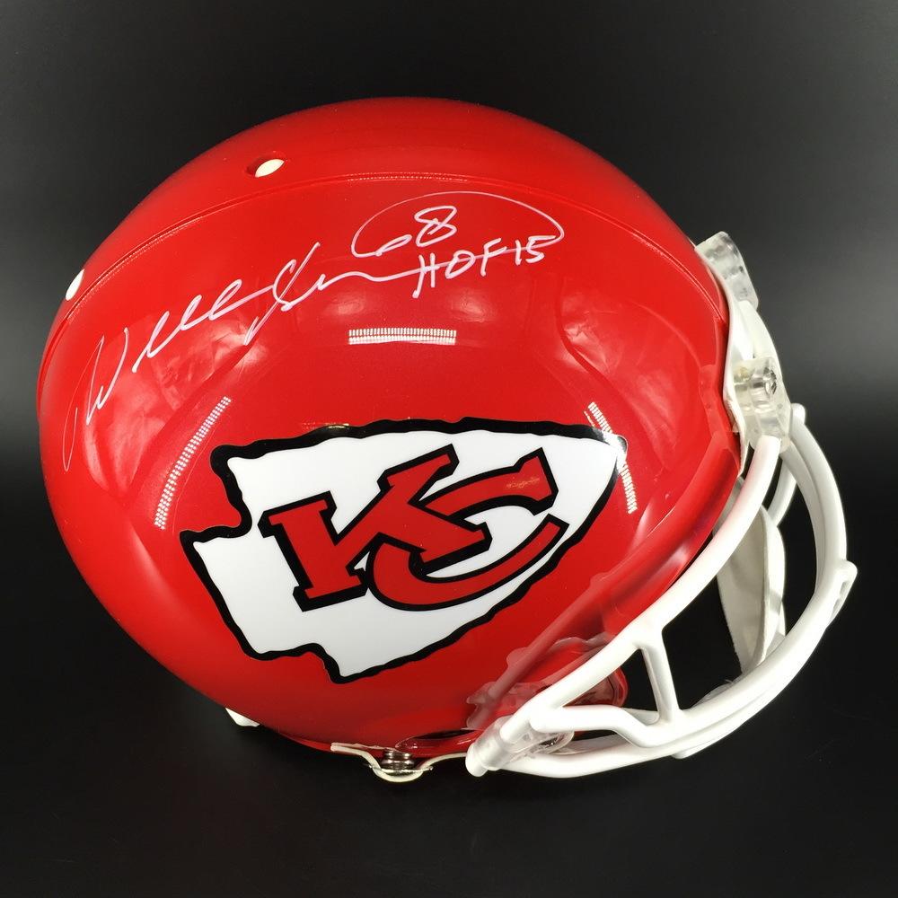 HOF - Chiefs Will Shields Signed Proline Helmet