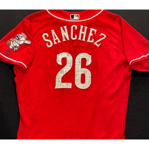 Photo of SANCHEZ-26 -- Authentic Reds Jersey -- $1 Jersey Auction -- $5 Shipping -- Size 48 (Not MLB Authenticated)