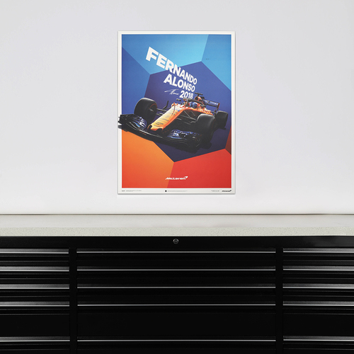 Photo of Fernando Alonso 2018 Printed Poster