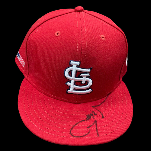 Photo of Génesis Cabrera Autographed Team Issued Home Cap (Size 8)