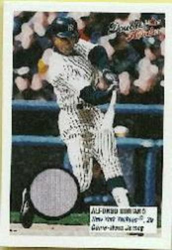 Photo of 2003 Fleer Double Header Flip Card Game Used #AS Alfonso Soriano Jsy