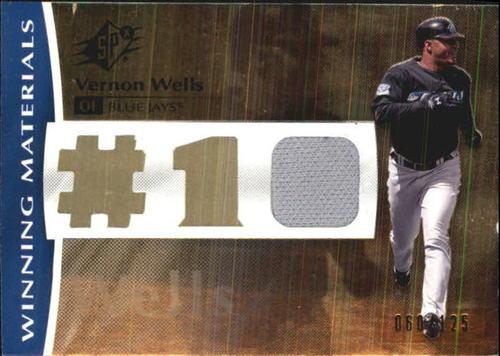 Photo of 2008 SPx Winning Materials Jersey Number 125 #VW Vernon Wells