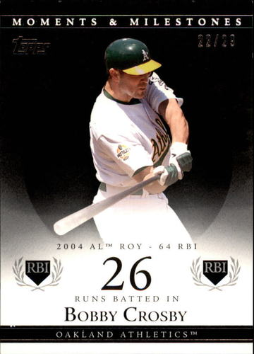 Photo of 2007 Topps Moments and Milestones Black #88-26 Bobby Crosby/RBI 26
