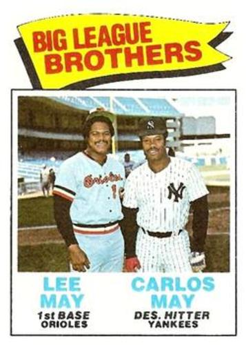 Photo of 1977 Topps #633 Brothers/Lee May/Carlos May