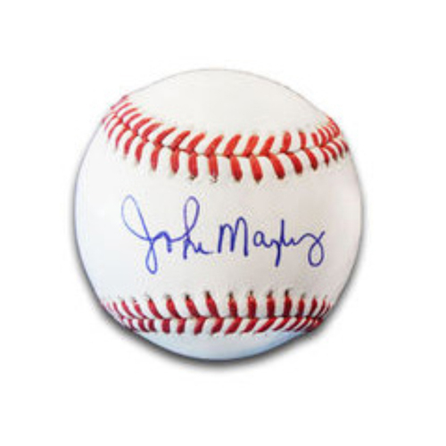 Photo of John Mayberry Autographed Baseball
