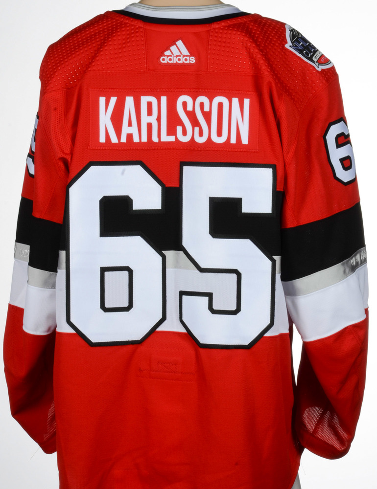 separation shoes 23efd 361b0 Erik Karlsson Ottawa Senators Game-Worn 2017 NHL100 Classic ...