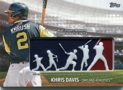 Photo of 2018 Topps Players Weekend Patches #PWPKD Khris Davis
