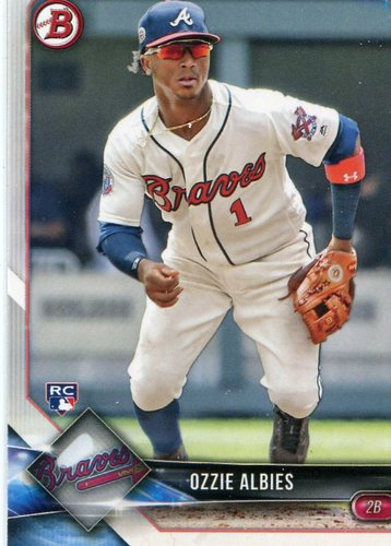 Photo of 2018 Bowman #62 Ozzie Albies  -- Rookie Card