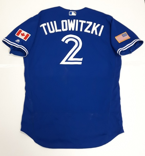 Photo of Authenticated Team Issued 2018 Independence Day Jersey (July 4, 2018) - #2 Troy Tulowitzki. Size 48.