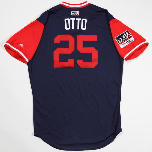 """Photo of Noe """"Otto"""" Ramirez Los Angeles Angels Game-Used 2018 Players' Weekend Jersey"""