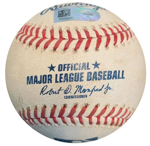 Photo of Game-Used Baseball from Pirates vs. Brewers on 6/19/18 - Hernan Perez Foul