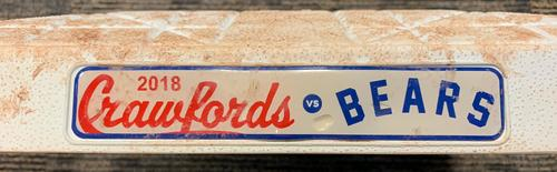 Photo of Game-Used 1st Base from Pirates vs. Brewers Heritage Night Game on 7/13/18