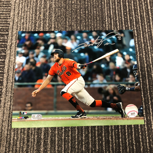 Photo of Autographed 8 x 10 Photo - #8 Hunter Pence
