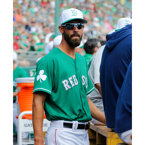 Photo of Red Sox Foundation St. Patrick's Day - Rick Porcello Game-Used and Autographed Jersey