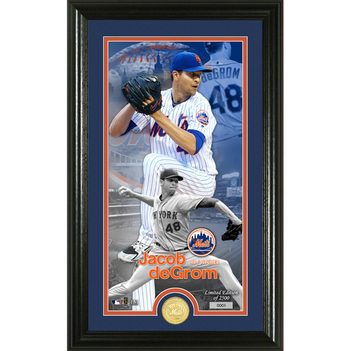 Photo of Jacob DeGrom Supreme Bronze Coin Photo Mint
