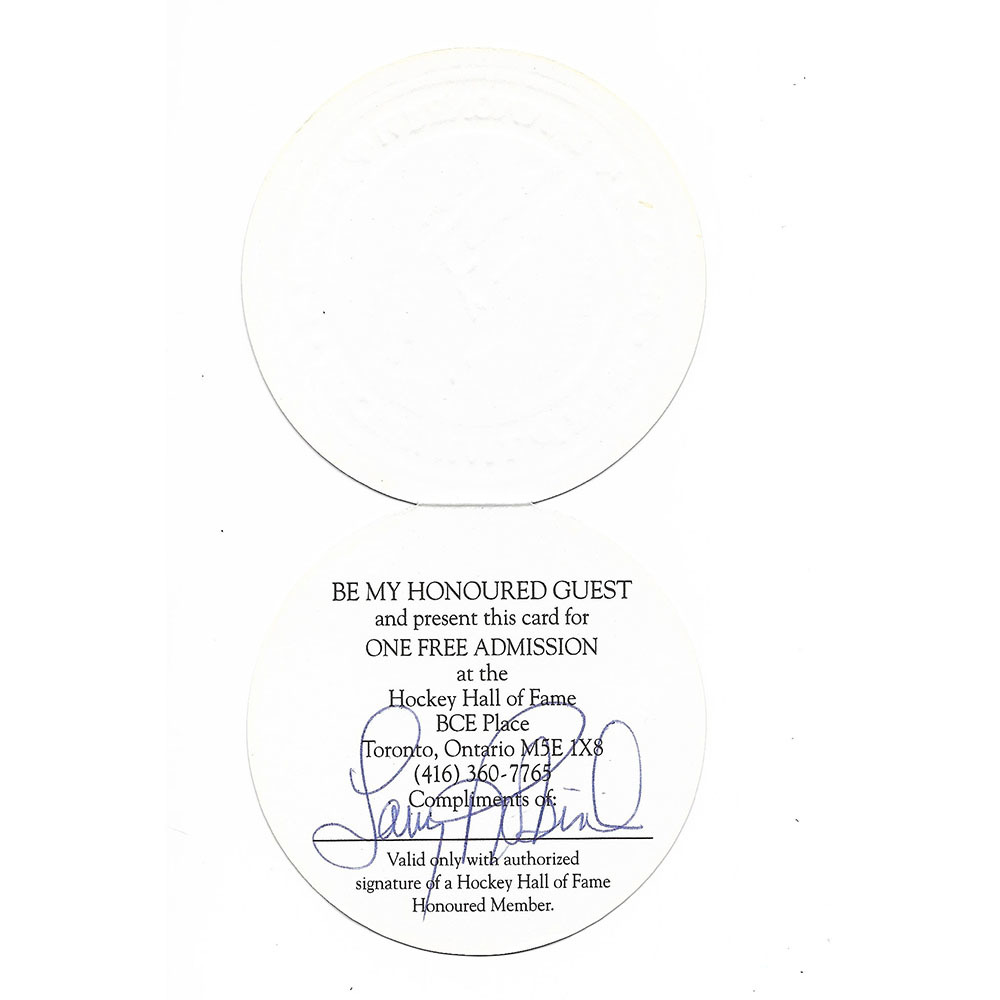 Larry Robinson Autographed Hockey Hall of Fame Admission