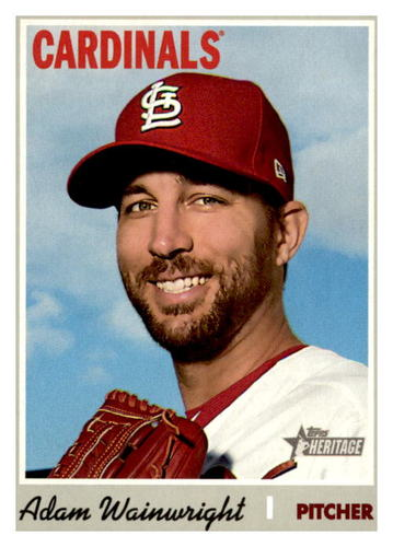 Photo of 2019 Topps Heritage #584 Adam Wainwright