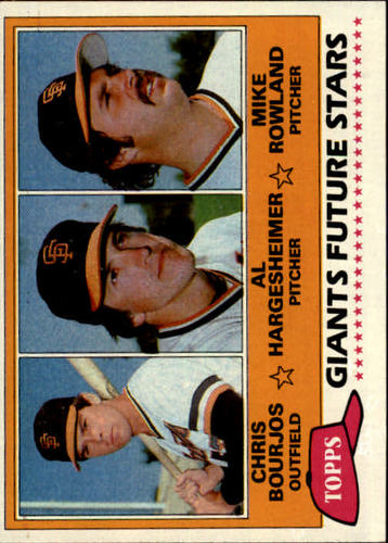 Photo of 1981 Topps #502 Chris Bourjos RC/Al Hargesheimer RC/Mike Rowland RC