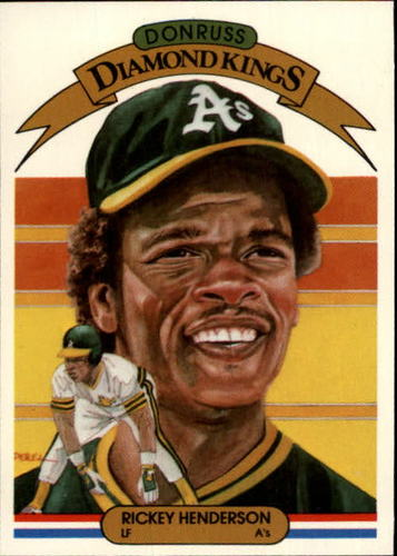 Photo of 1983 Donruss #11 Rickey Henderson DK